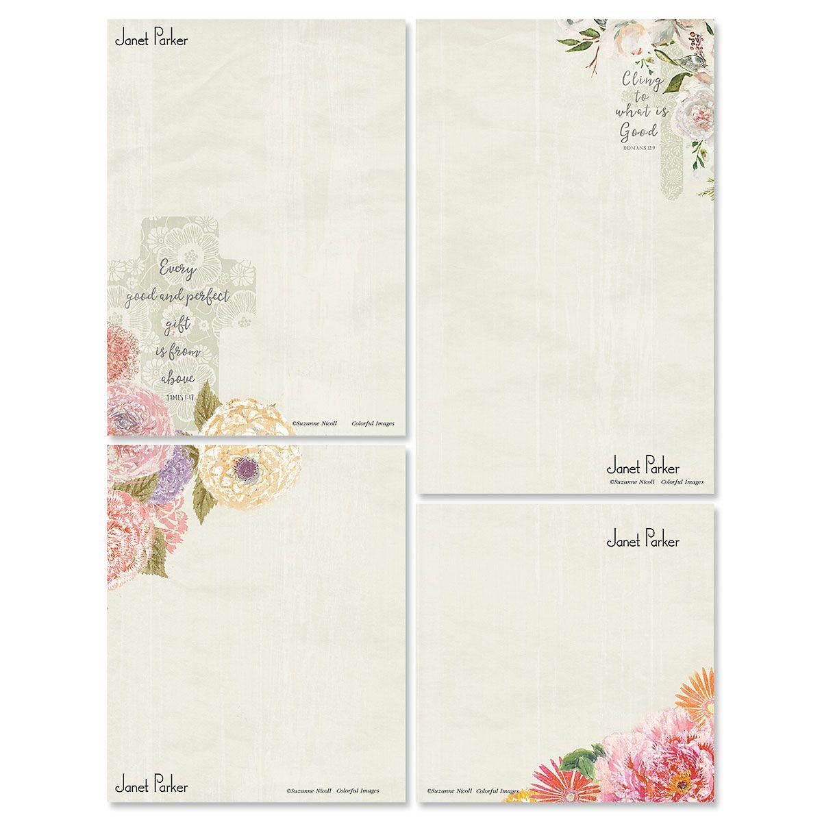 Faithful Florals Memo Pad Sets