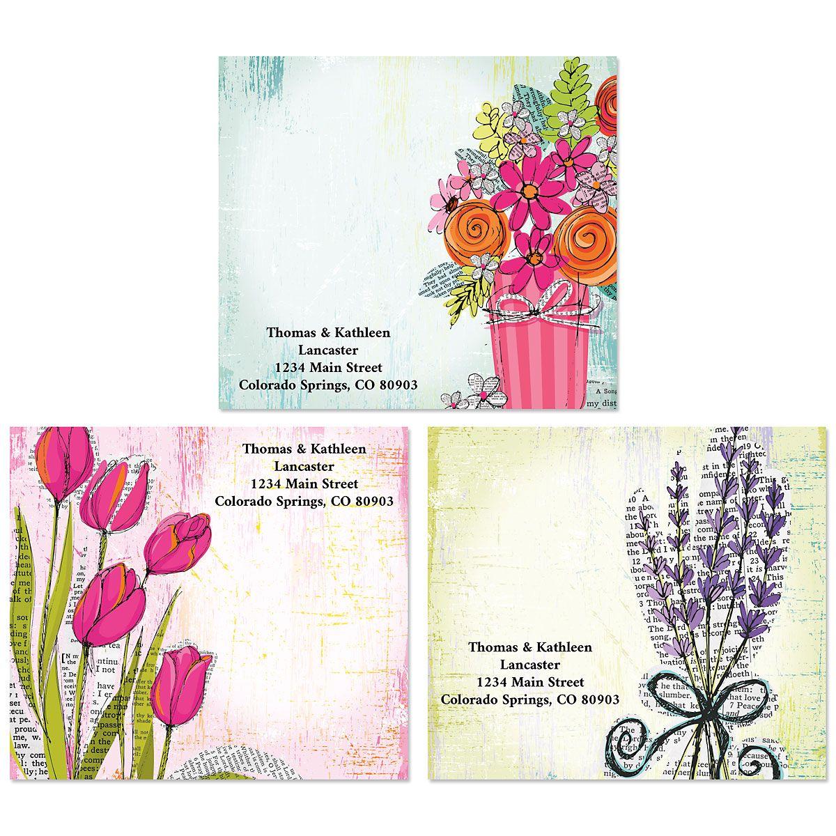 Bouquets Package Labels (3 Designs)