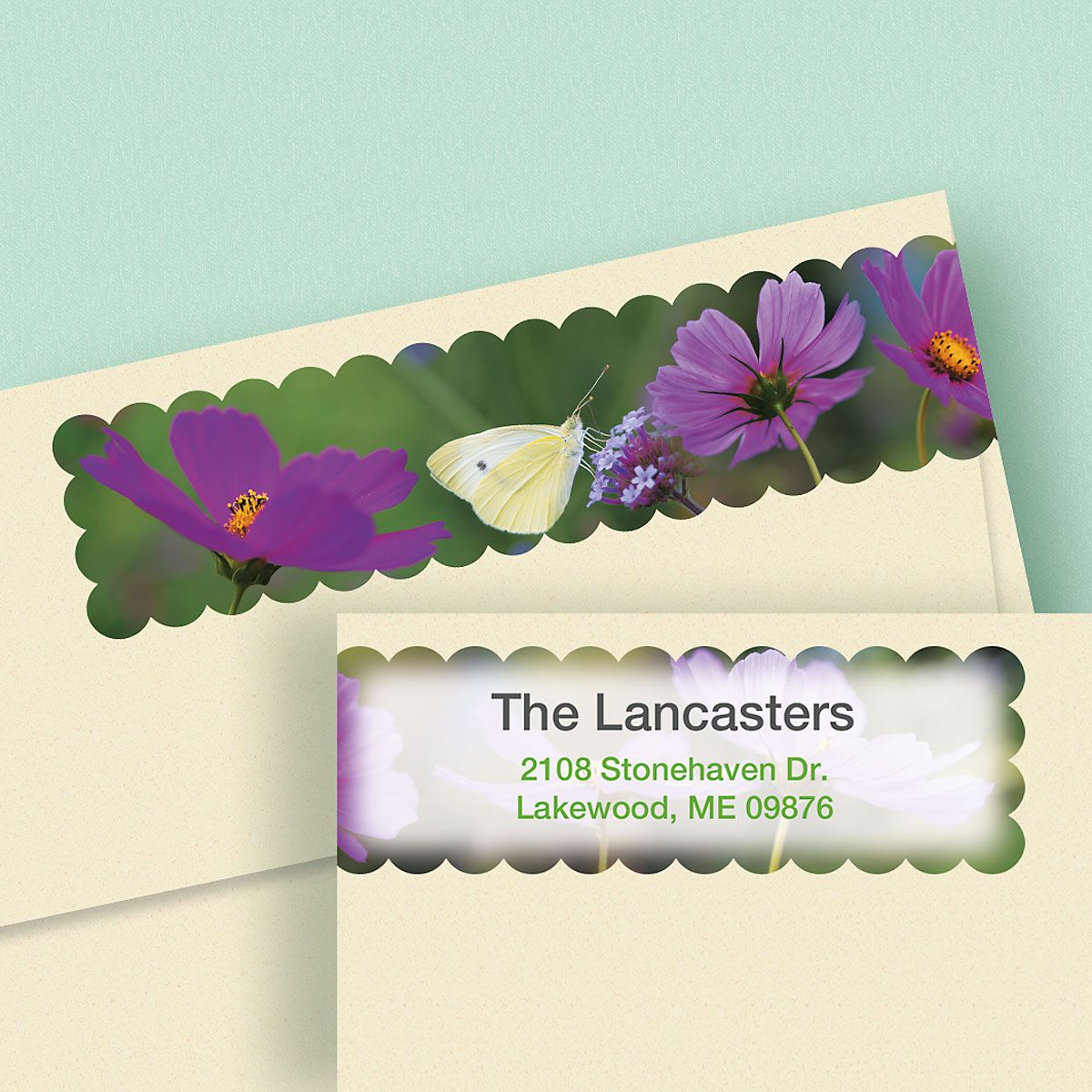 Cosmos Connect Wrap Diecut Address Labels