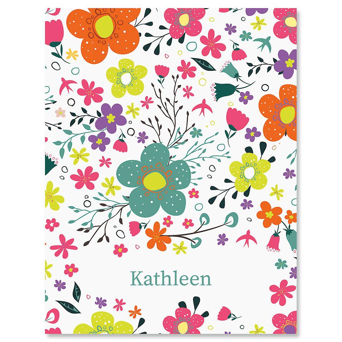 Rainbow Daisies Custom Note Cards