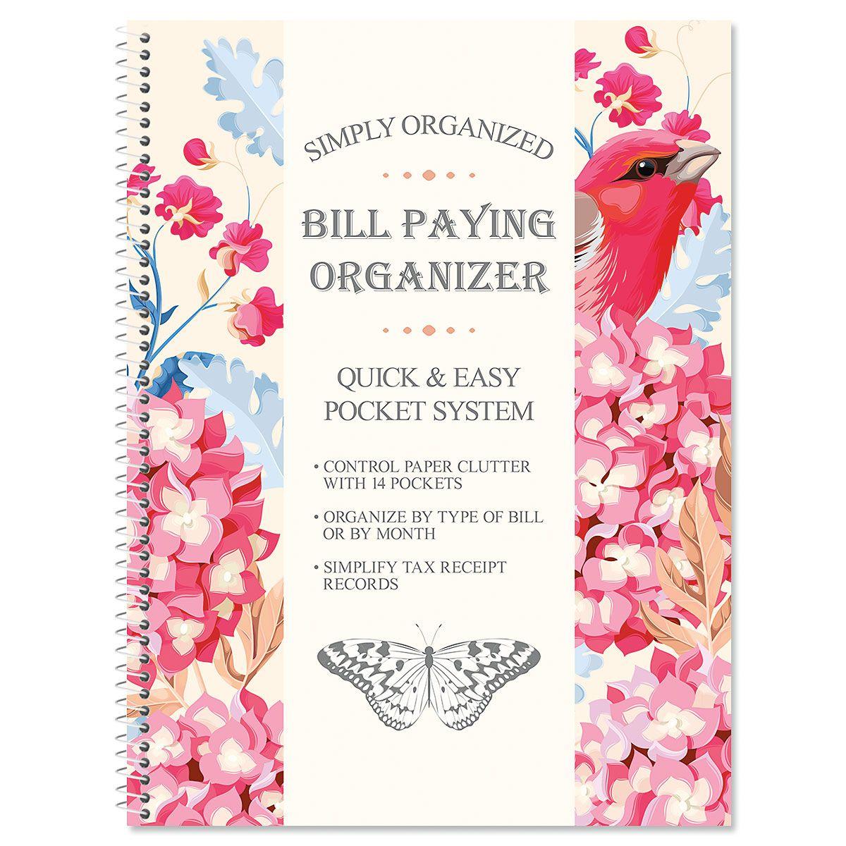 Summer Garden Bill Paying Organizer
