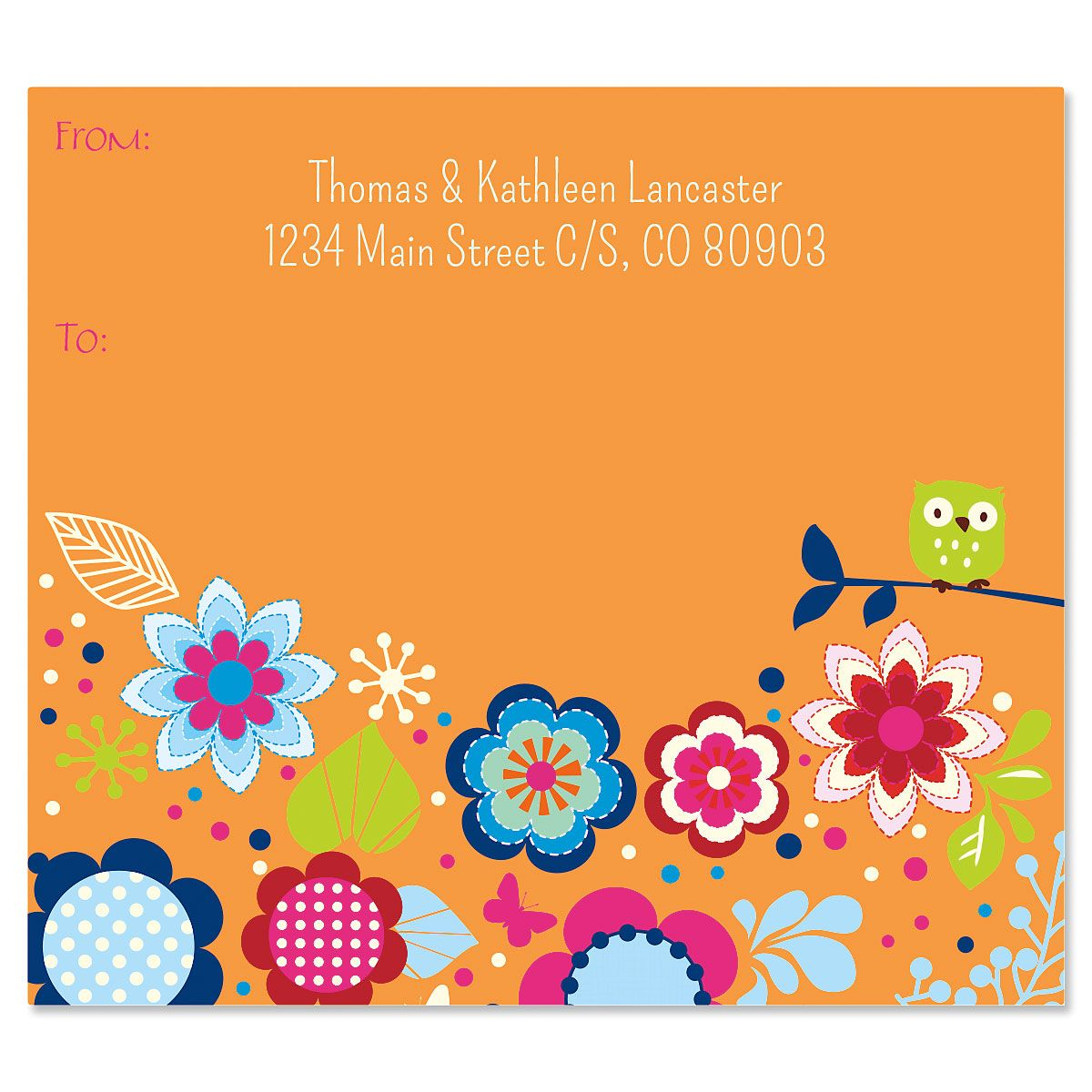 Playful Posies Package Labels