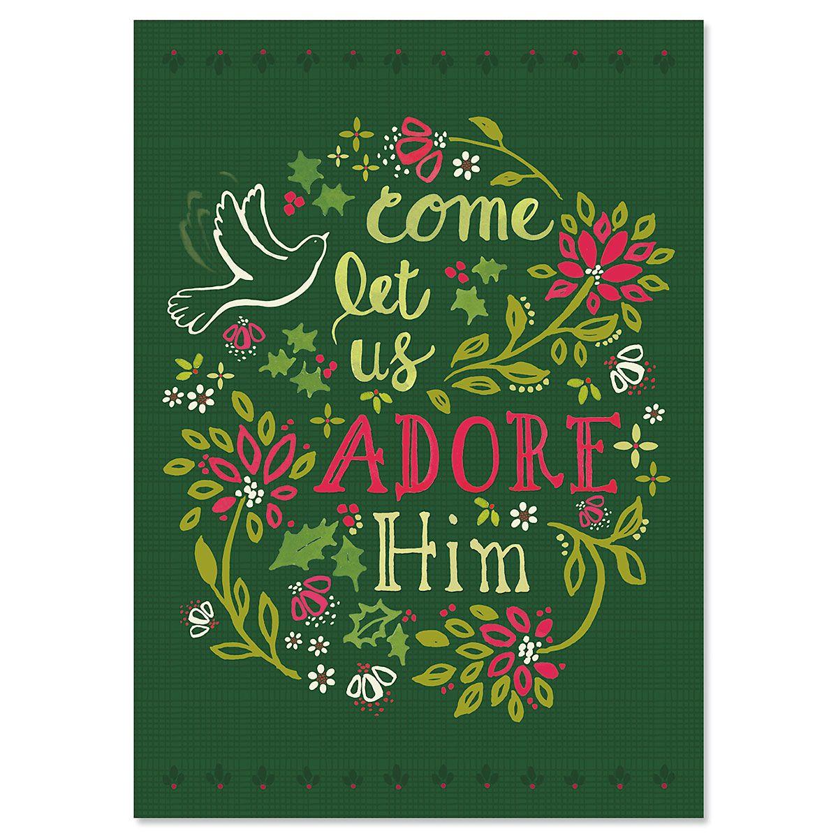 Adore Him Christmas Cards