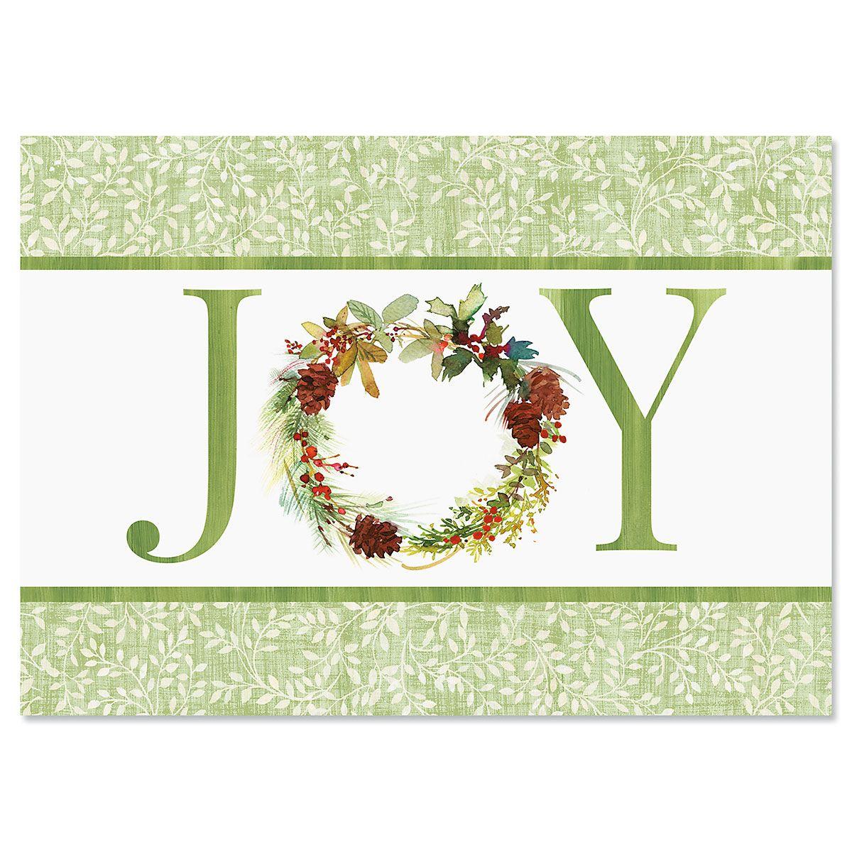 Joy Wreath Christmas Cards