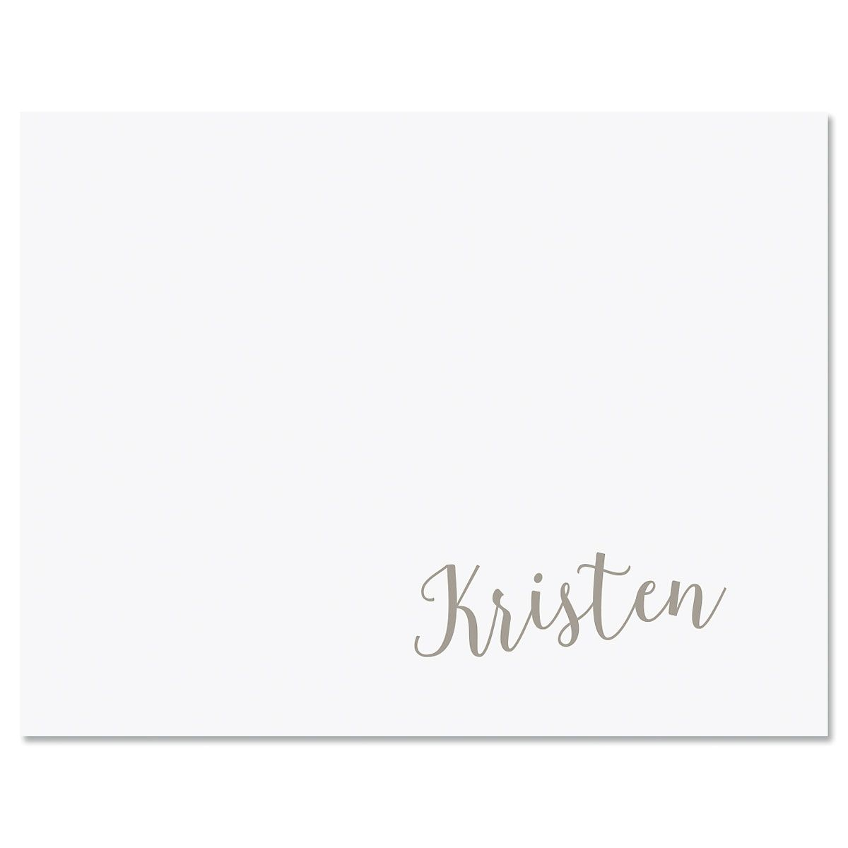 Sweeping Name Custom Note Cards