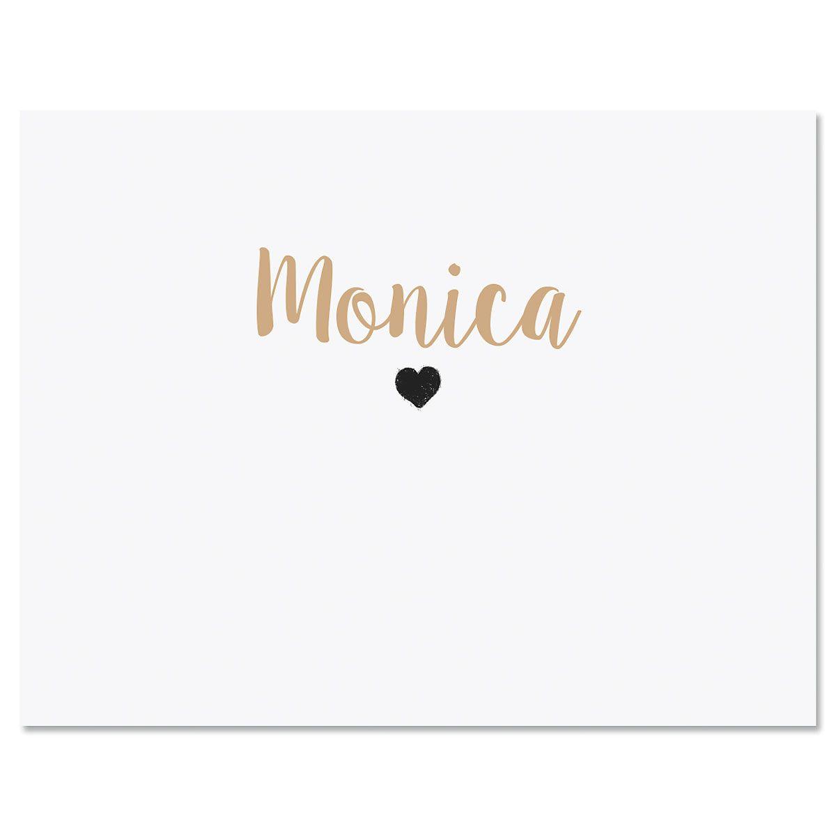 Mini Heart Custom Note Cards