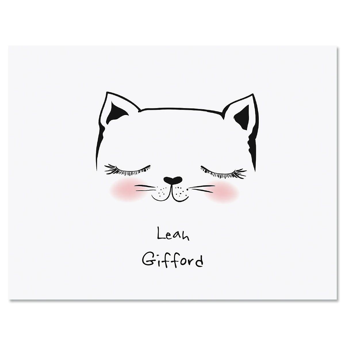 Kitty Ears Custom Note Cards
