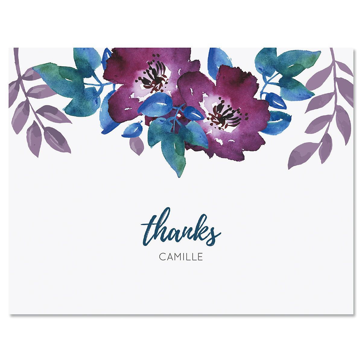 Camila Floral Custom Note Cards