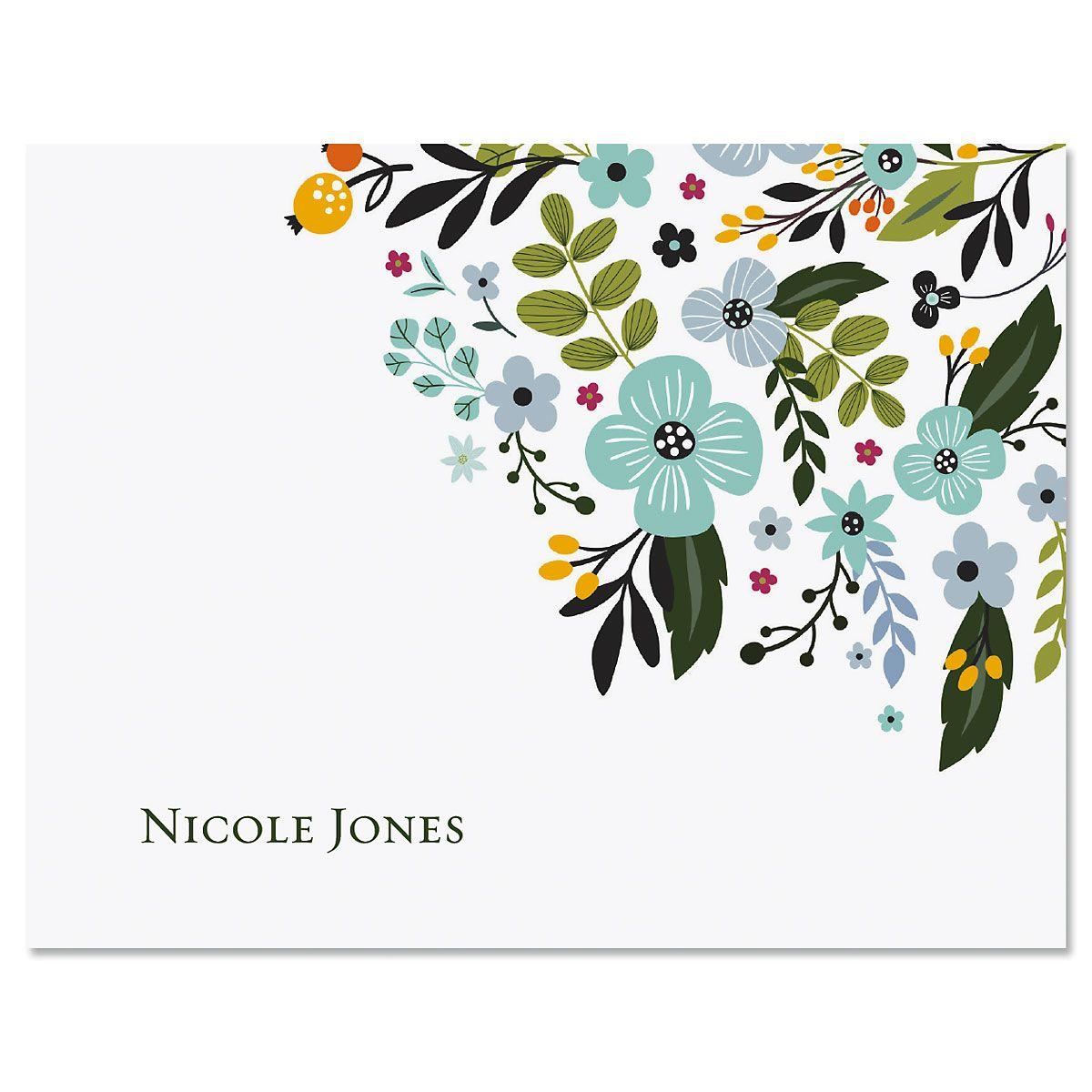Aubrey Floral Custom Note Cards