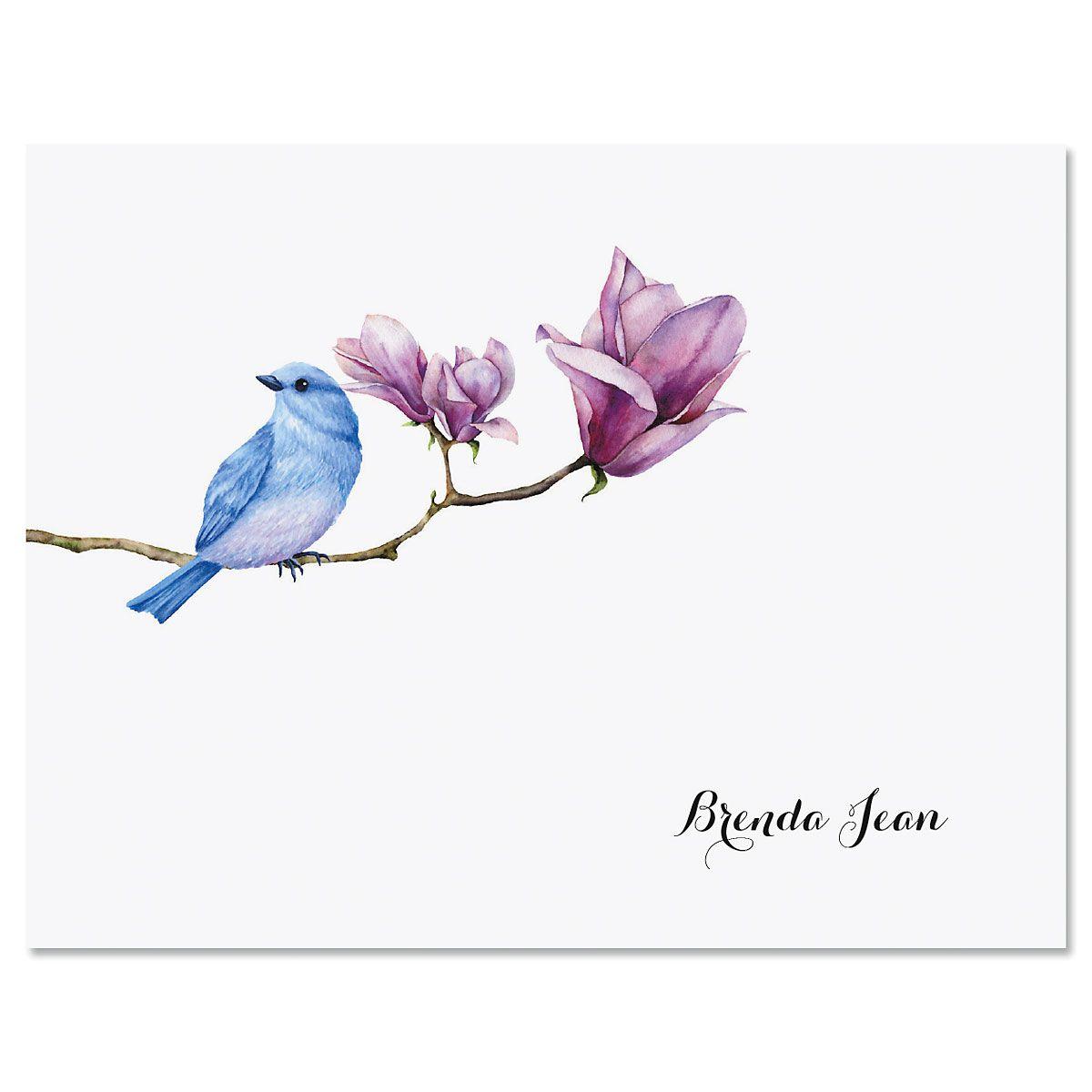Magnolia Bird Custom Note Cards