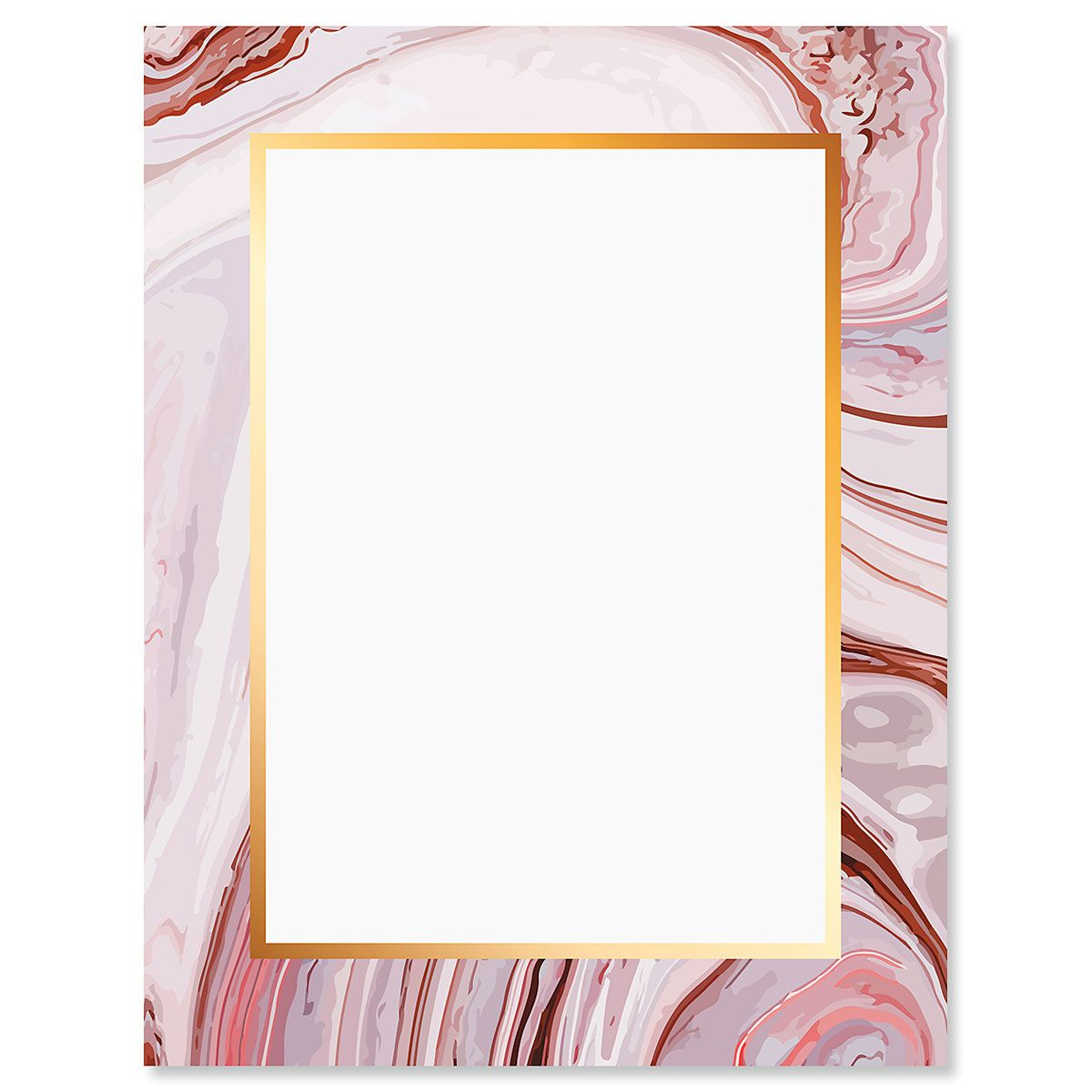 Marbled Swirl Letter Papers