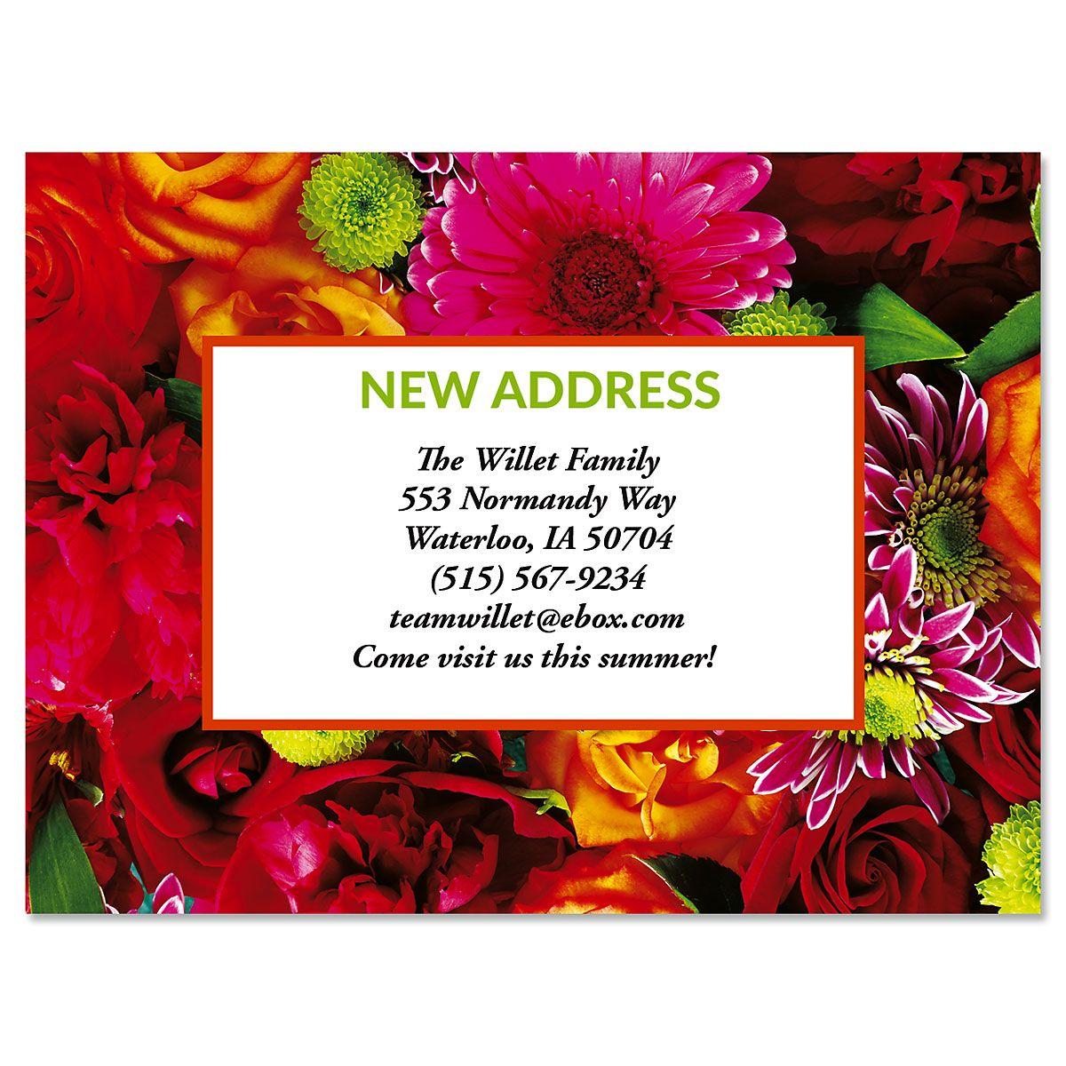 Refreshing Move New Address Postcards