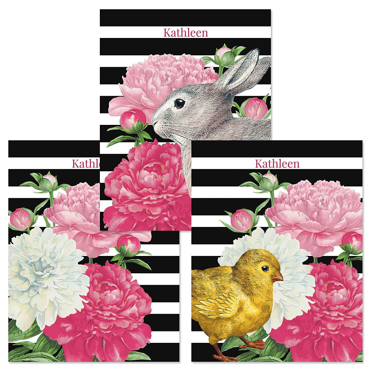 Easter Peony Custom Note Cards (3 Designs)