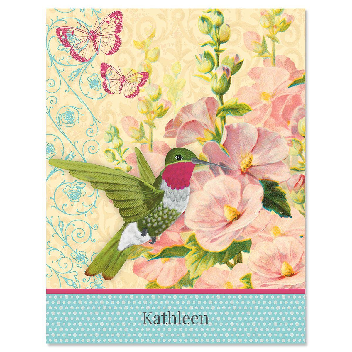 Spring Greetings Custom Note Cards