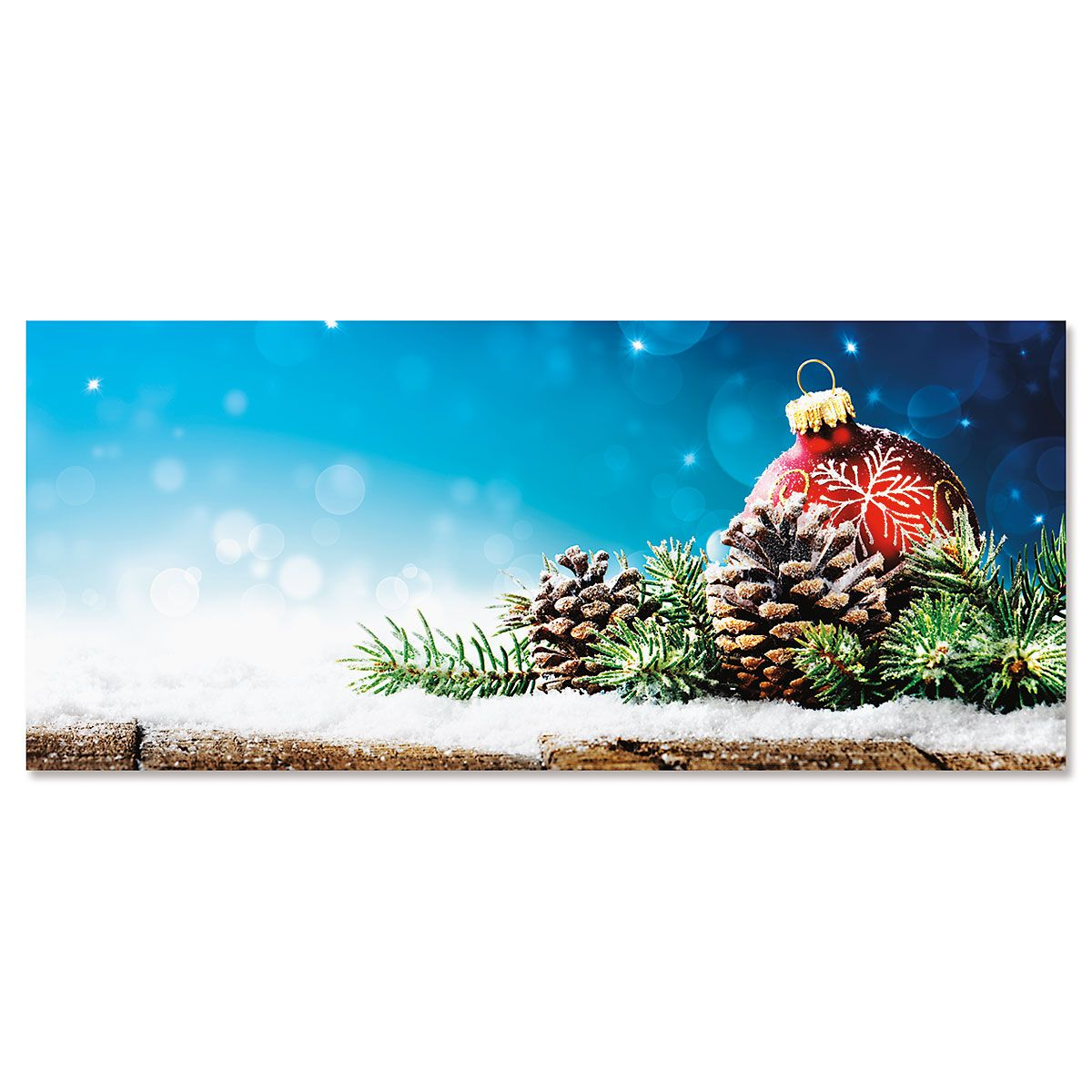 Pinecone Display Slimline Holiday Cards