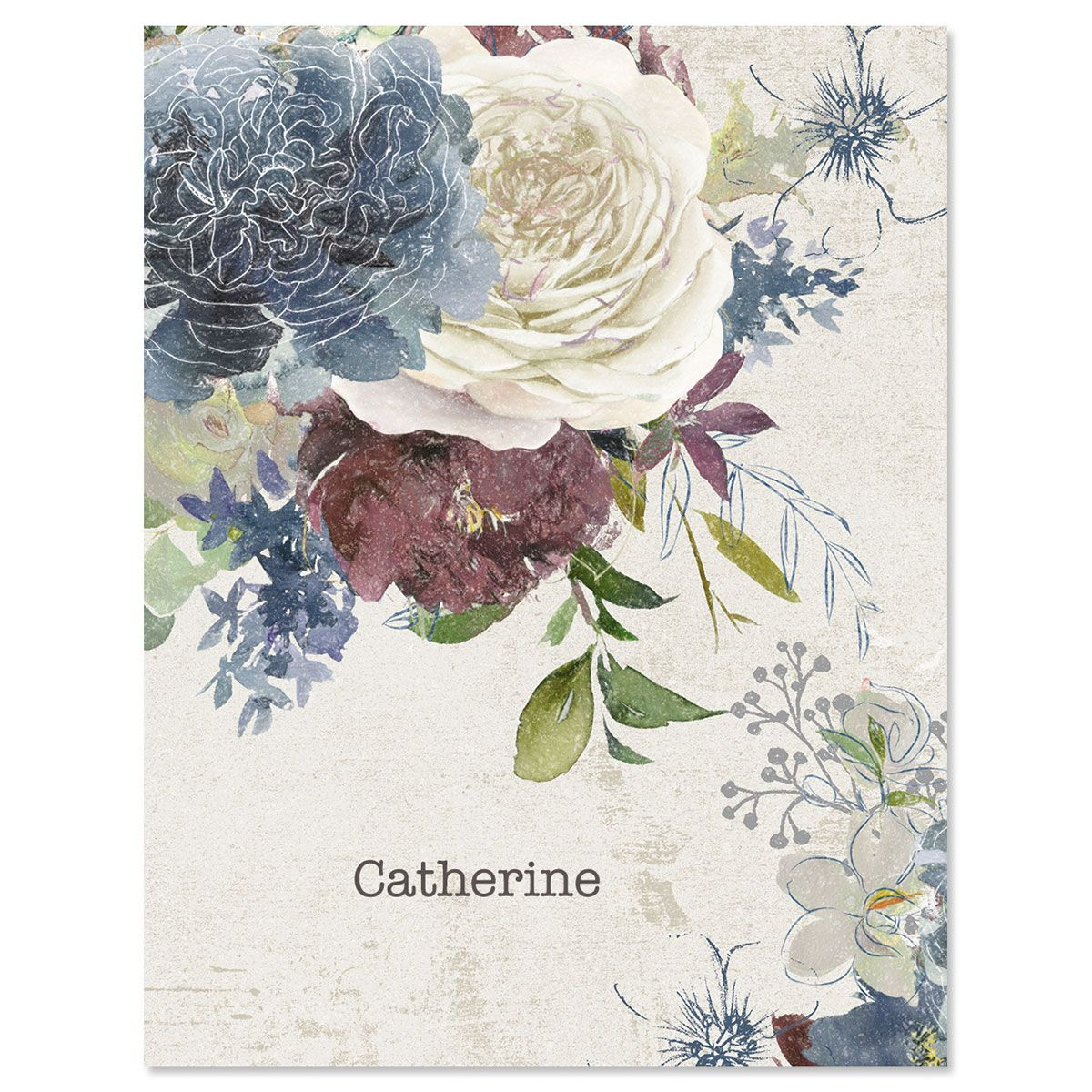 Fall Florals Custom Note Cards