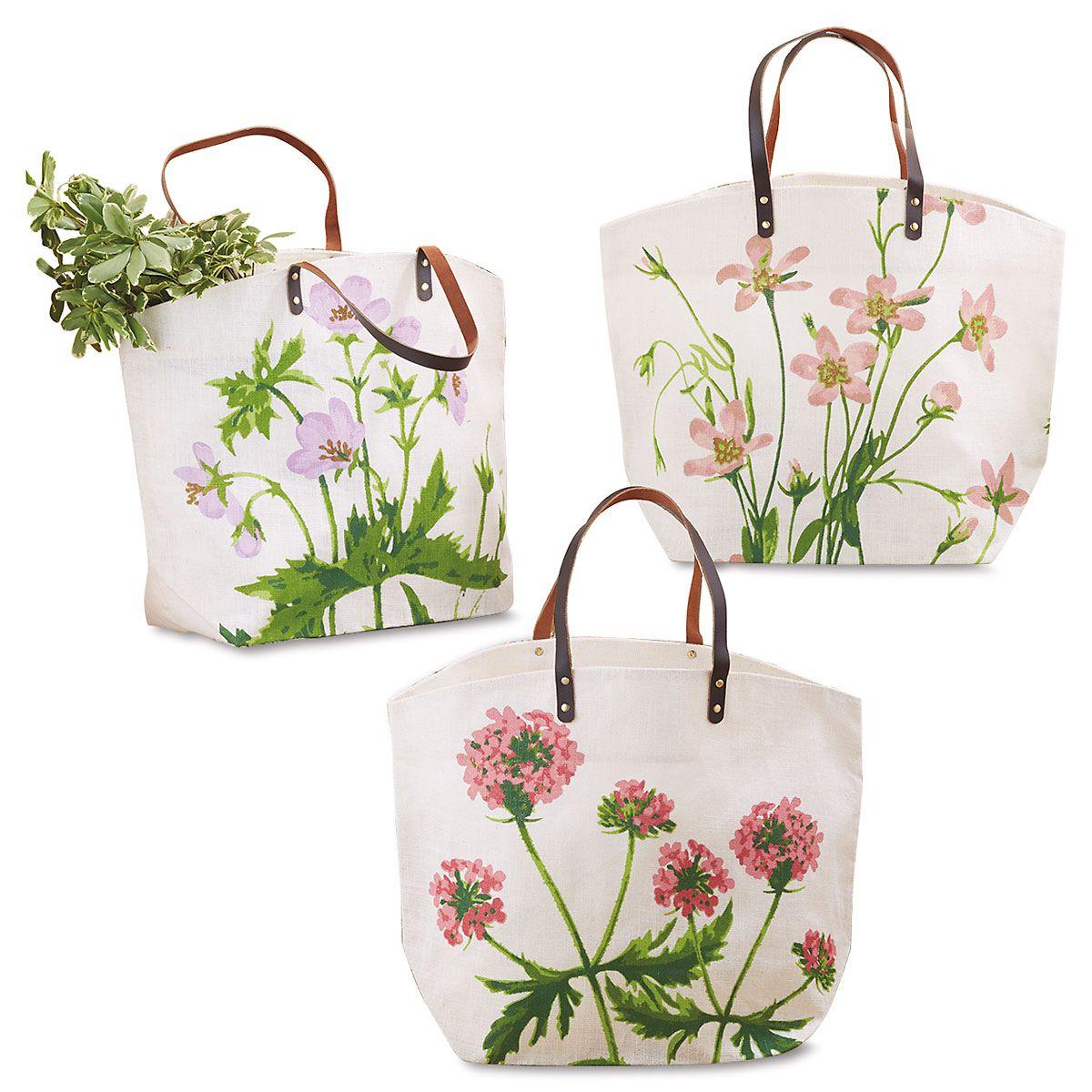 Garden Party Jute Bag