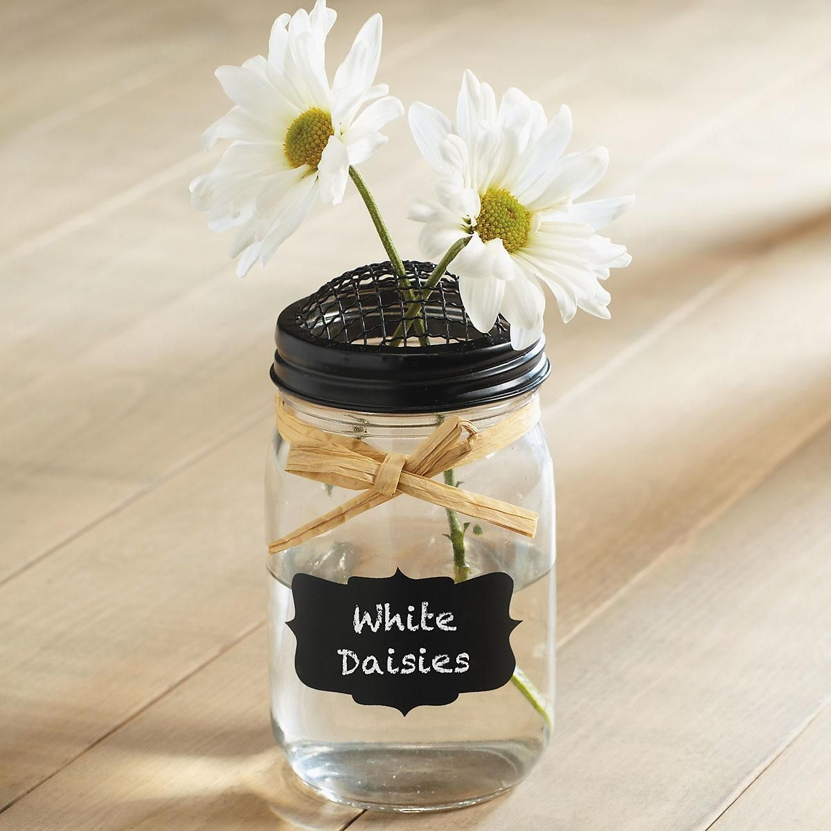 Glass Mason Jar with Chalk Label