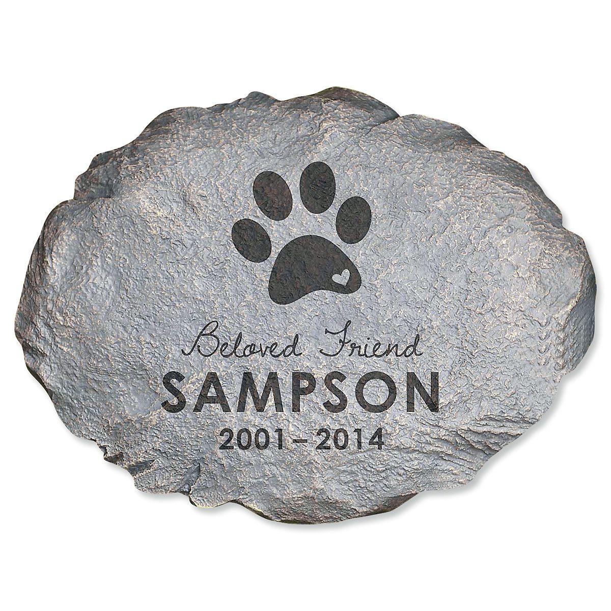 Beloved Friend Custom Pet Memorial Stone