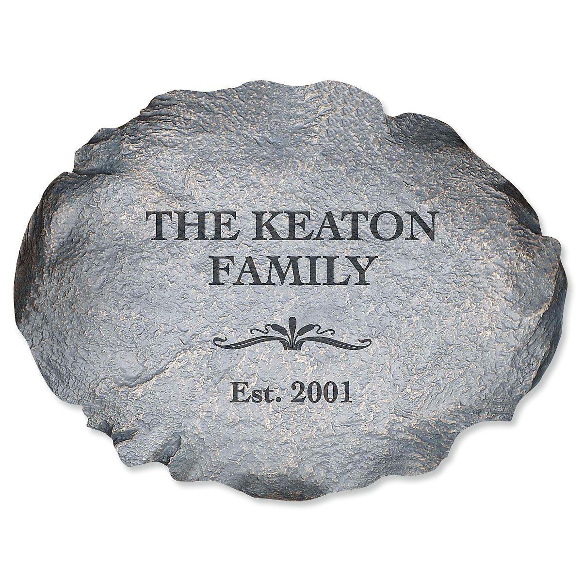 Our Family Custom Garden Stone