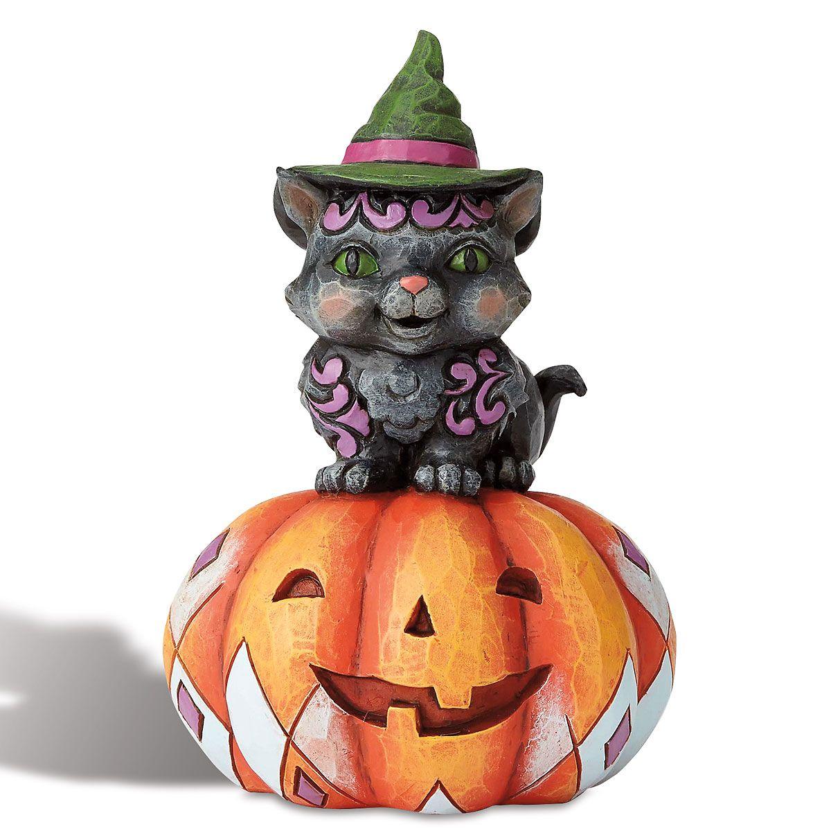 Mini Cat On Pumpkin By Jim Shore Colorful Images