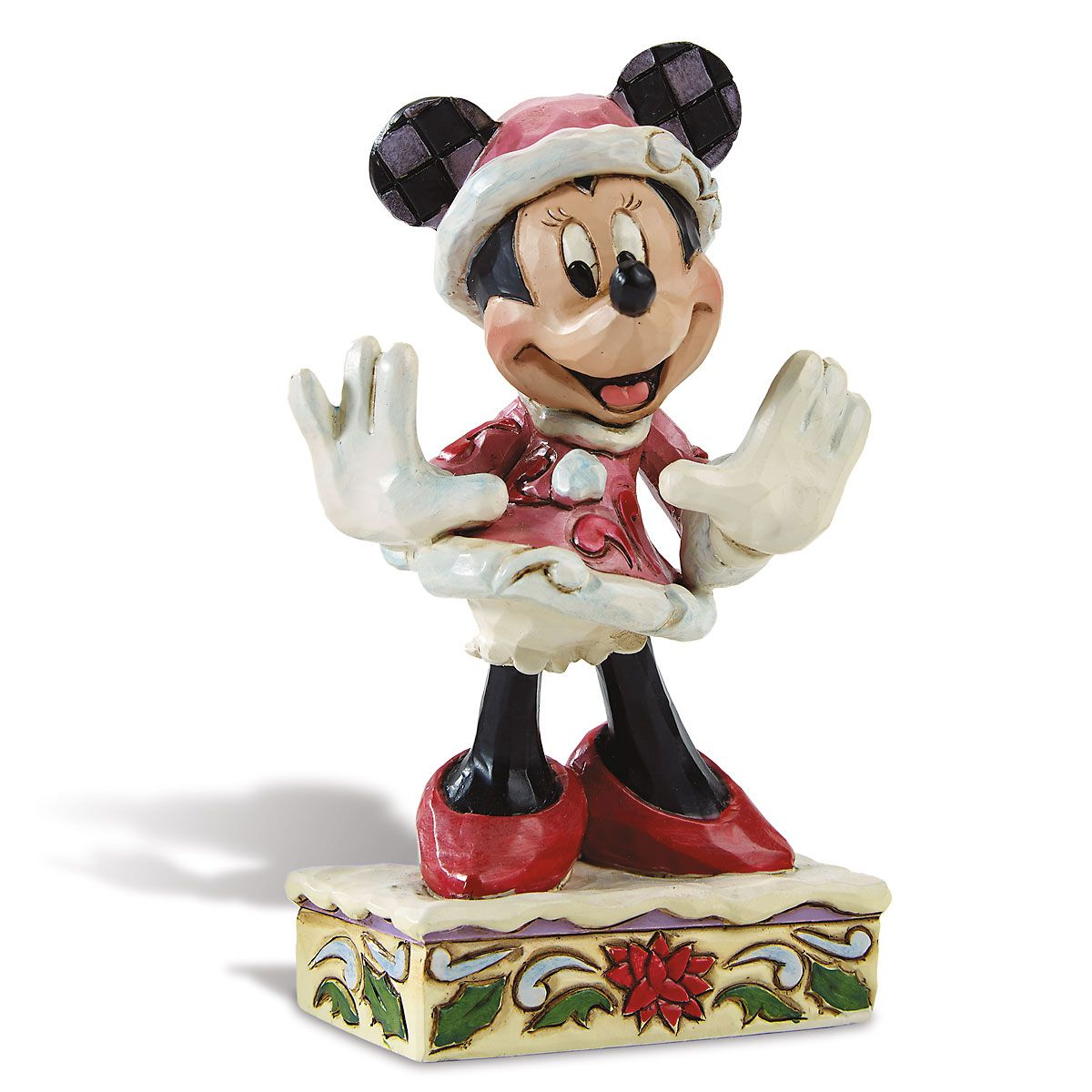 Minnie Christmas Personality Figurine by Jim Shore