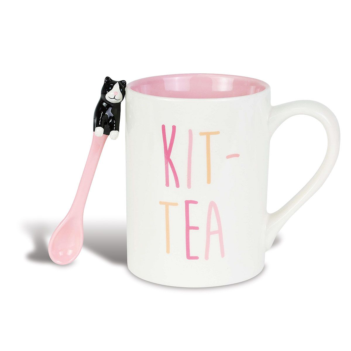 Kit-tea Mug with Spoon