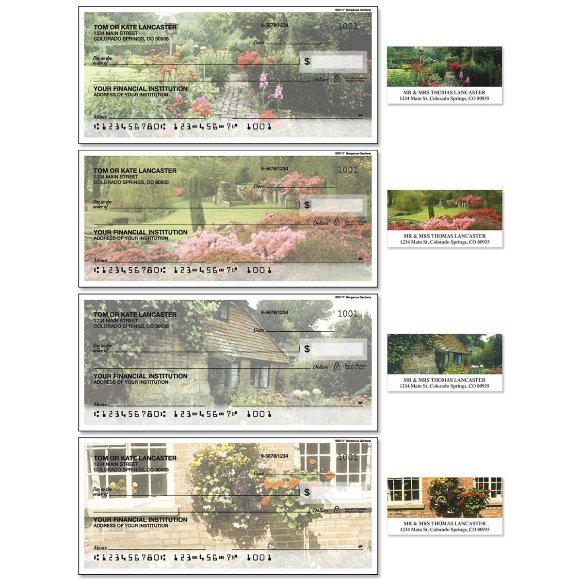 Gorgeous Gardens Duplicate Checks with Matching Address Labels
