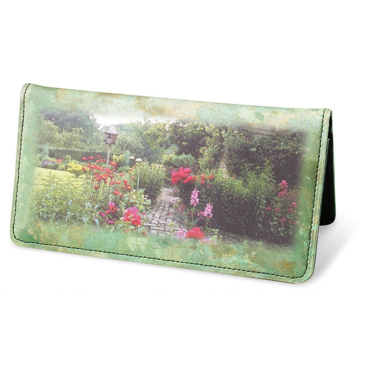 Gorgeous Gardens Premium Personal Checkbook Cover