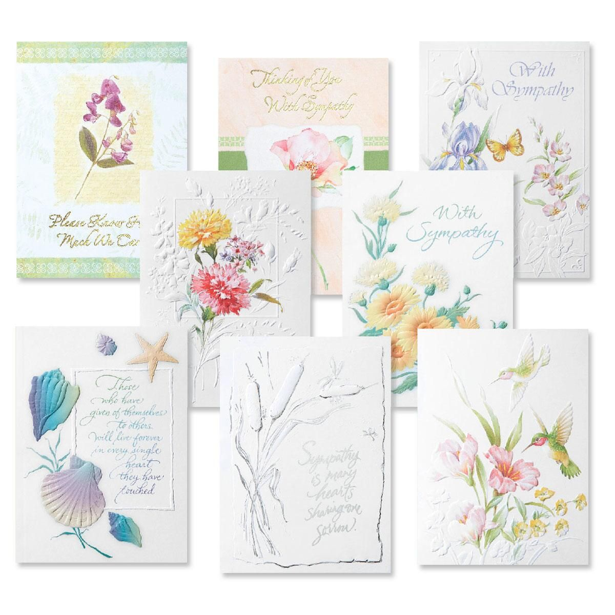 Deluxe Sympathy Greeting Card Value Pack