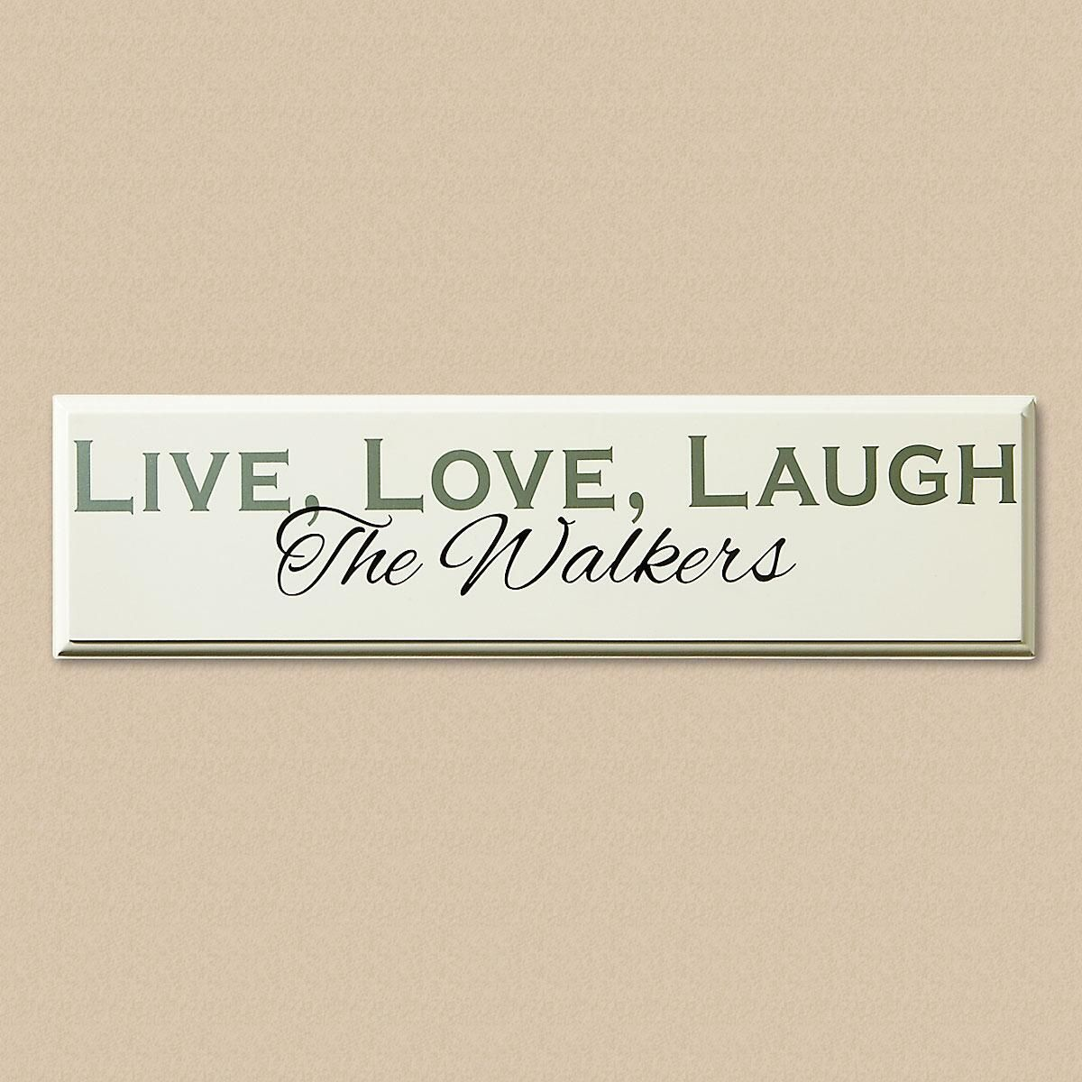 Live, Love, Laugh Personalized Wooden Plaque
