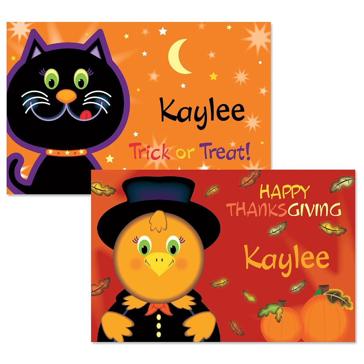 Kids' Autumn Personalized Placemats