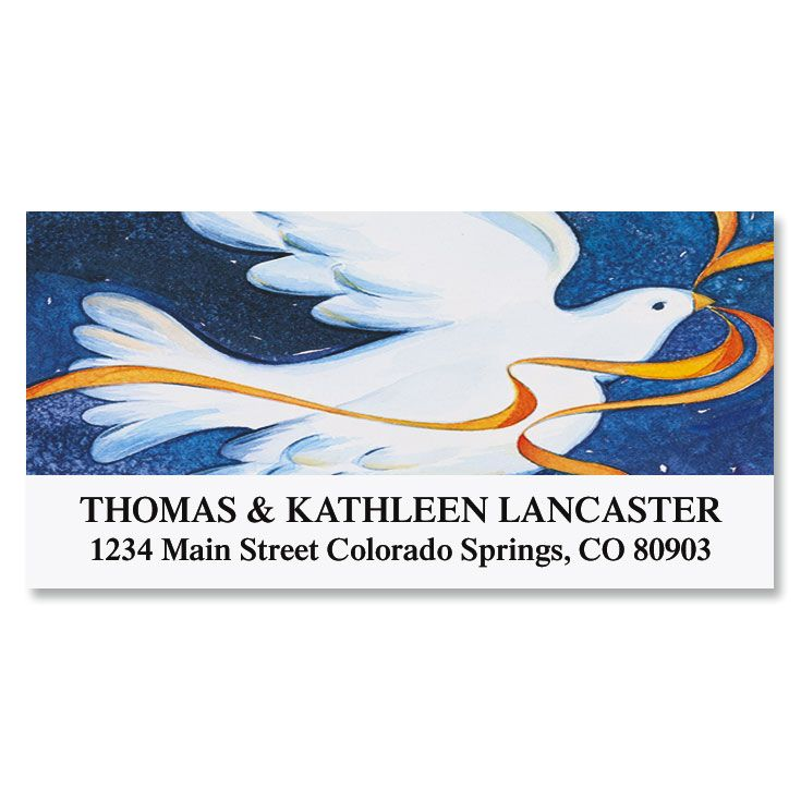 Dove Deluxe Address Labels