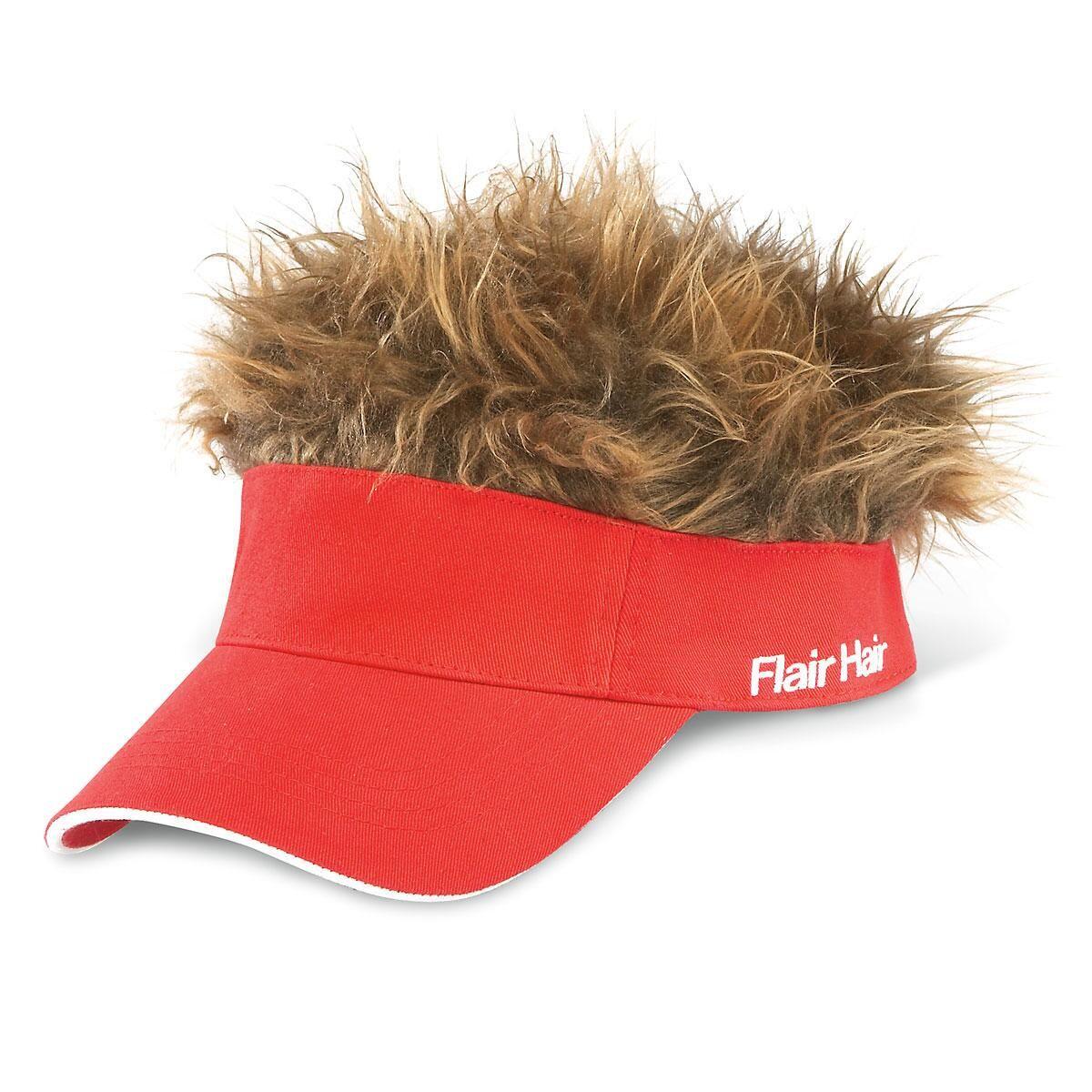 Red Flair Hair Visor