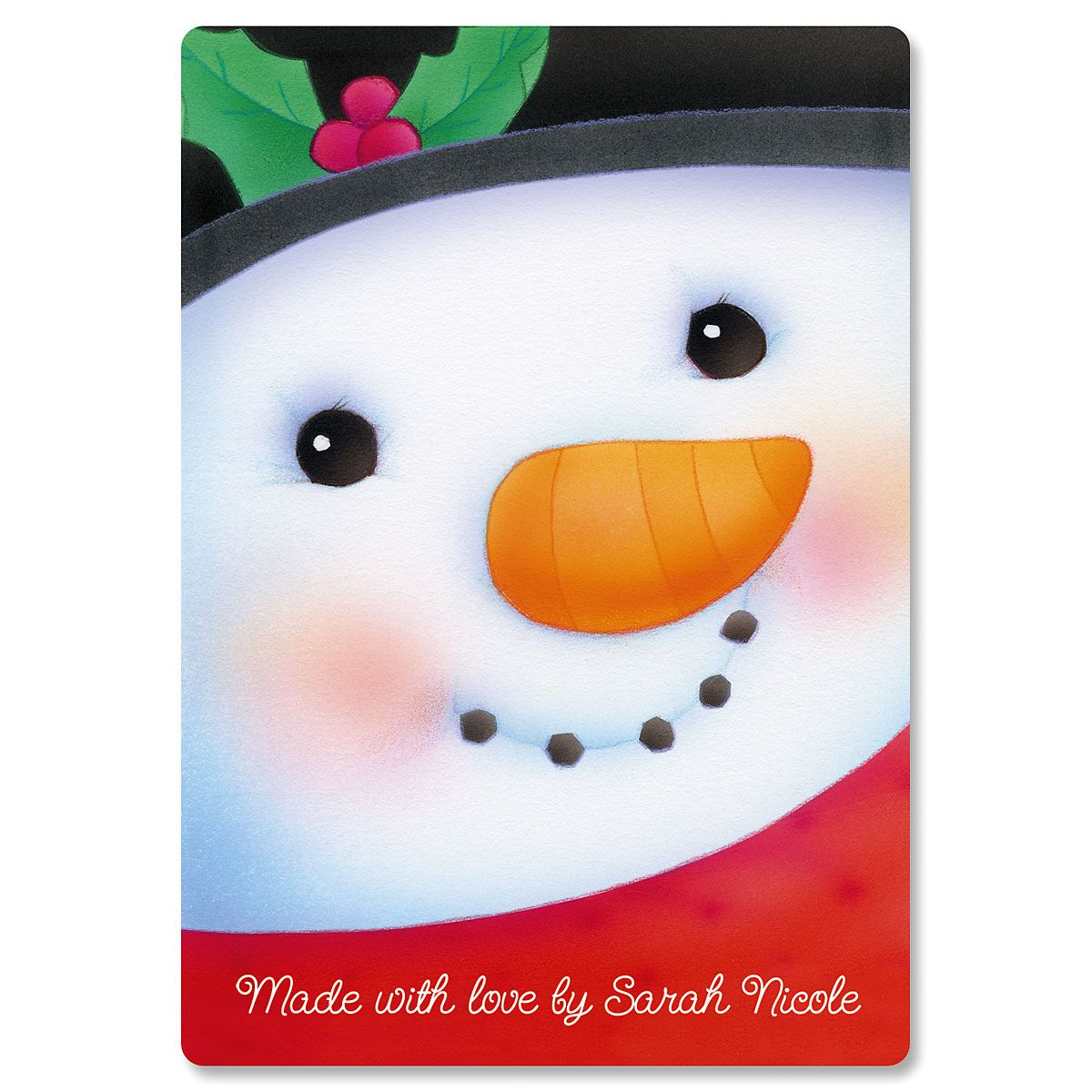 Snowman Custom Glass Cutting Board