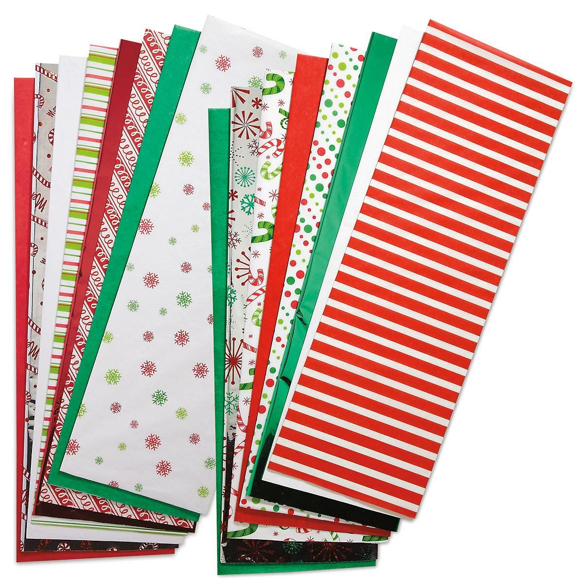 Christmas Prints And Solids Tissue Paper Colorful Images
