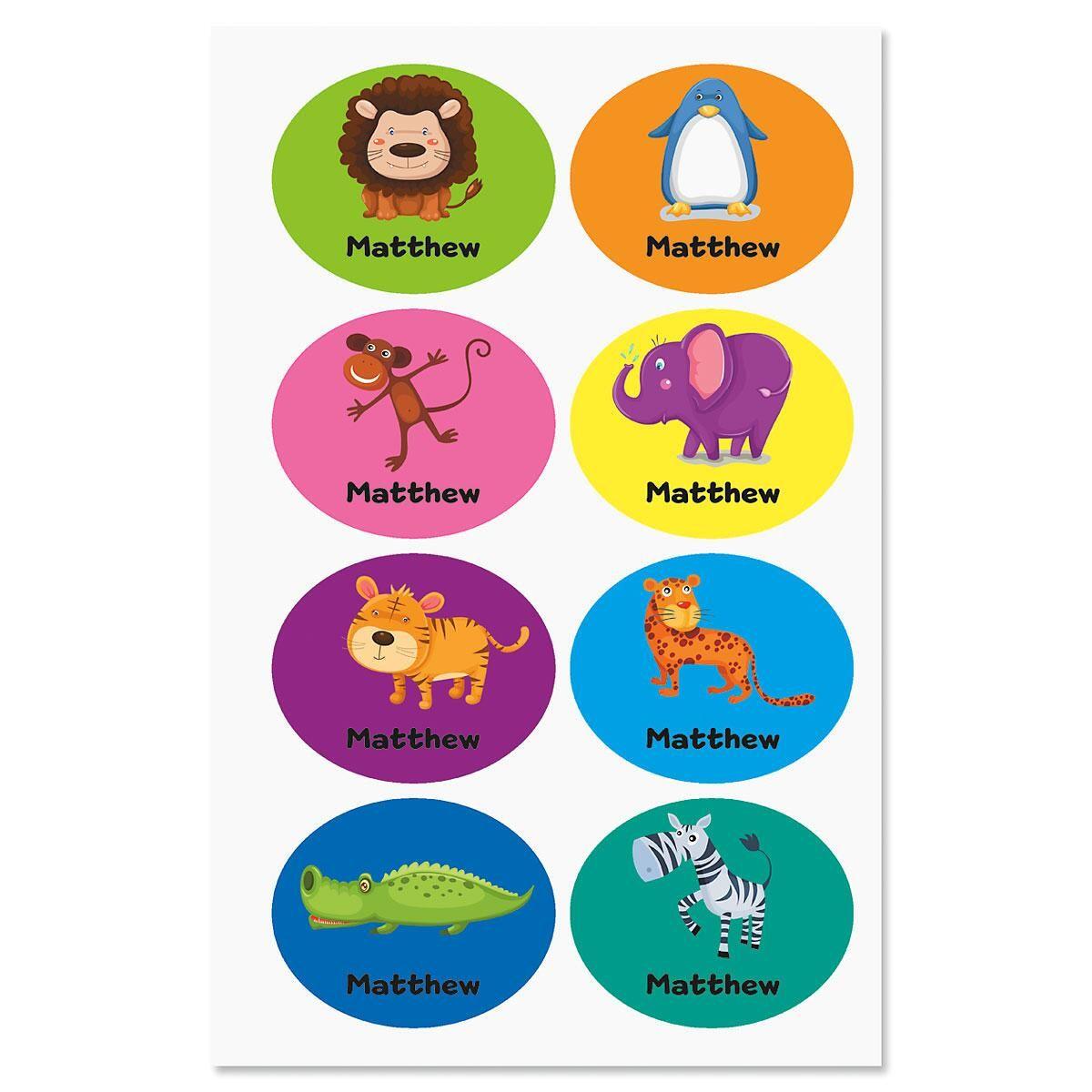 Playful Custom Animal Labels for Kids