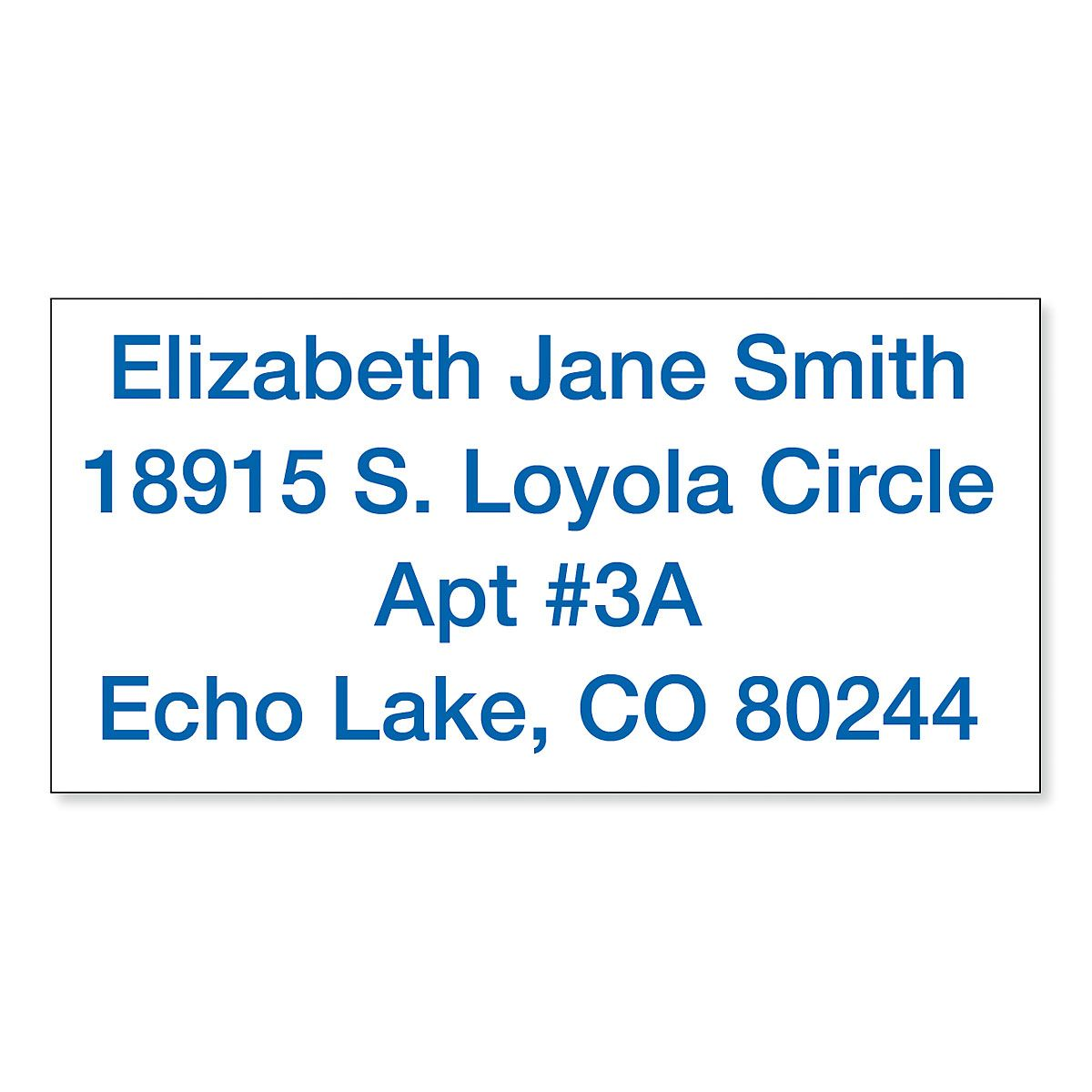Custom Standard Self-Inking Address Stamp - Blue Ink