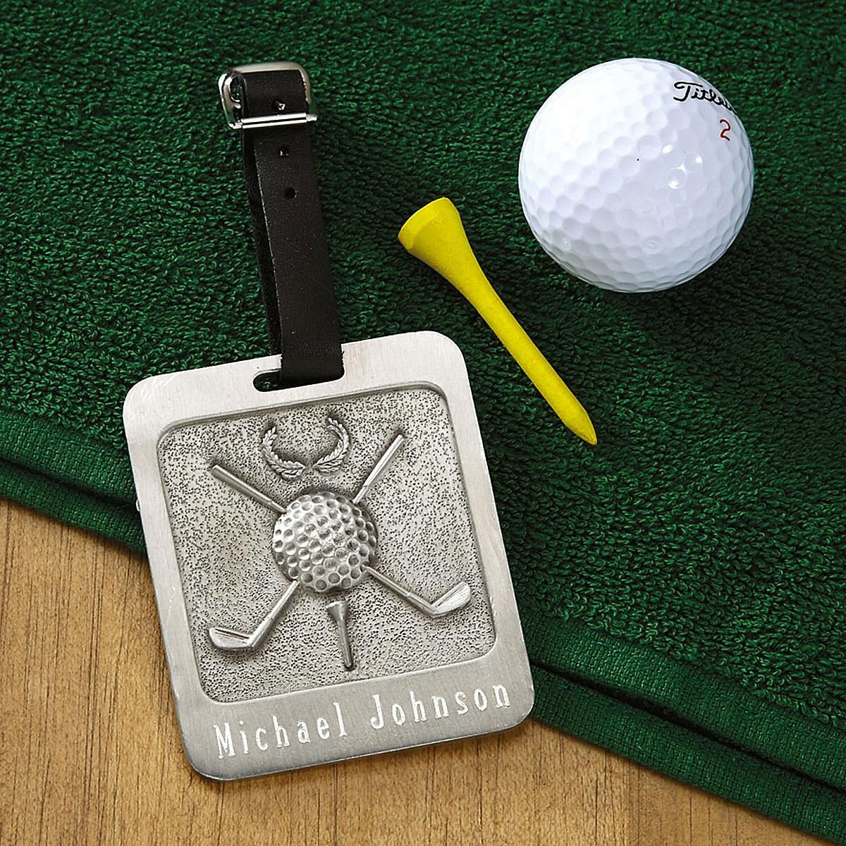Pewter Personalized Golf Bag Tag