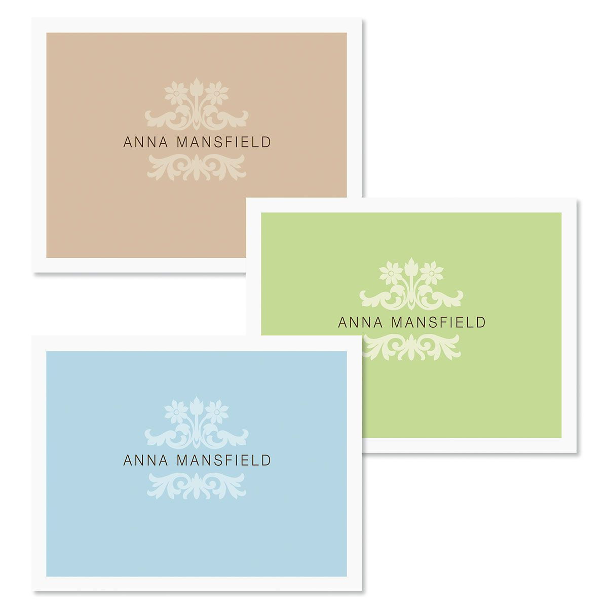 Color Block Custom Note Cards