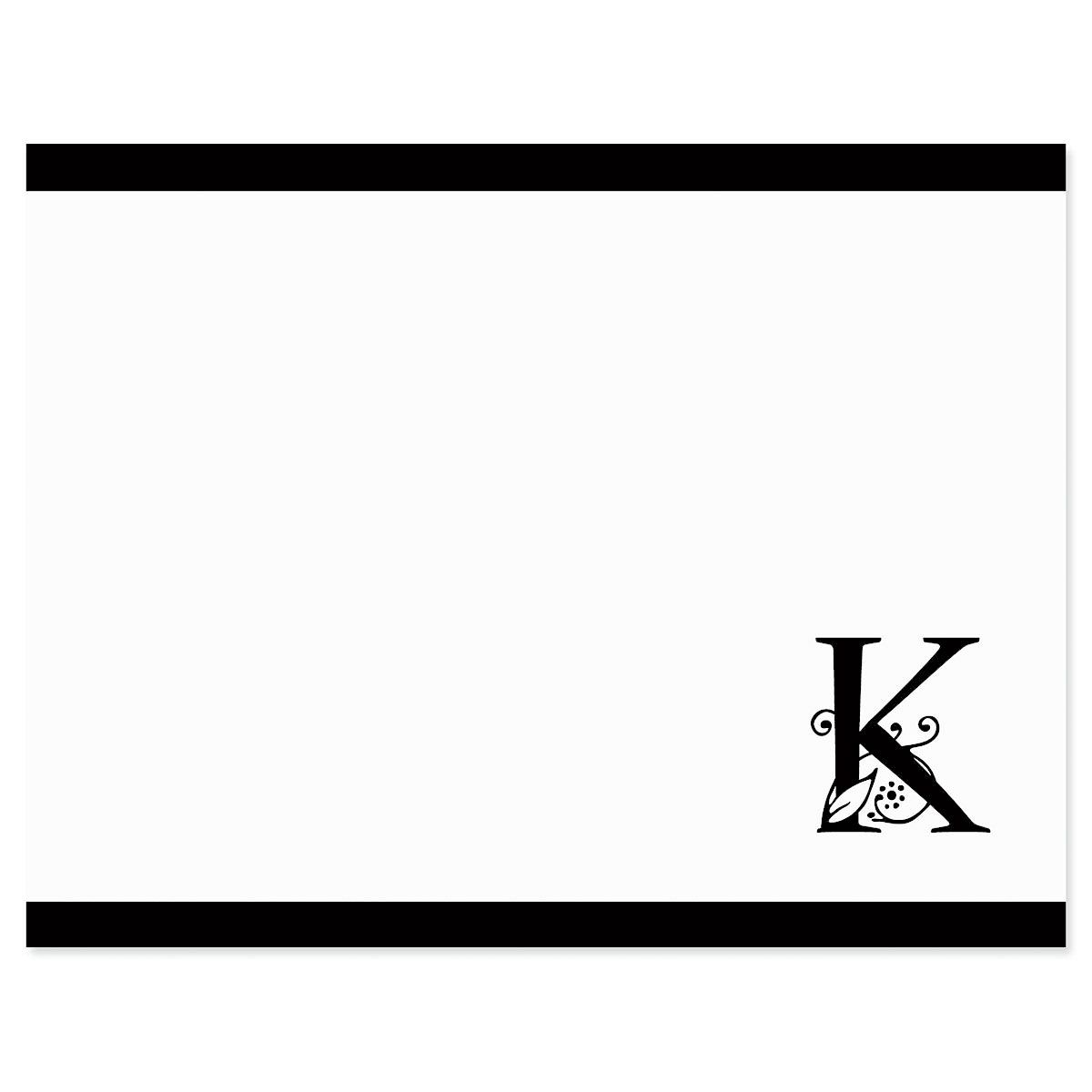 Formal Initial Personalized Correspondence Cards