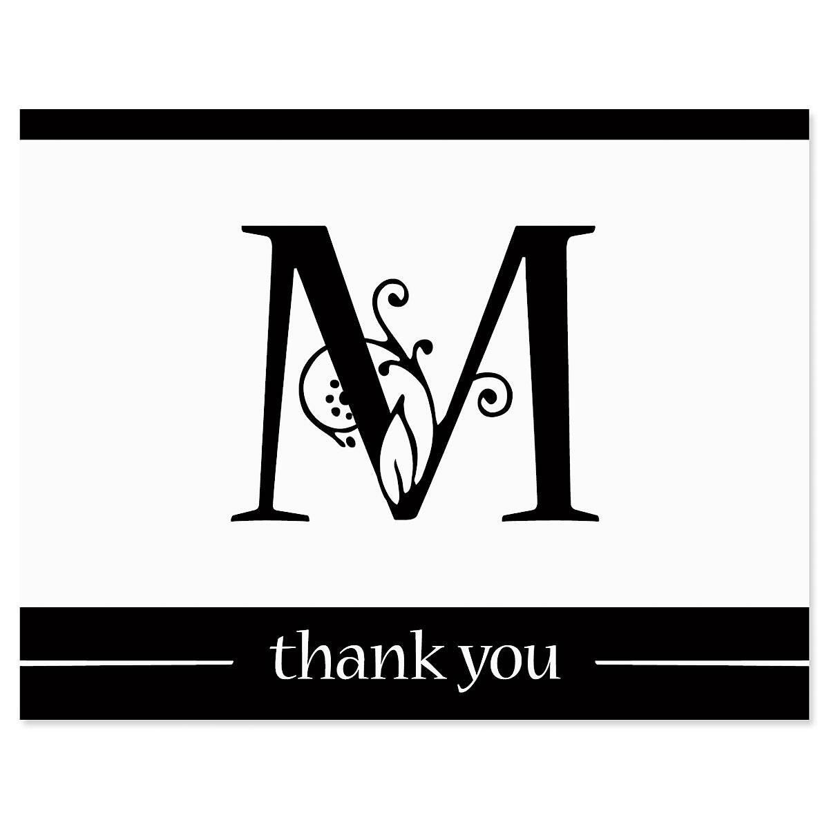Formal Initial Thank You Card