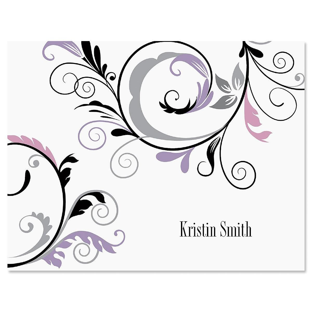 Black and Grey Fantasy Note Cards - Set of 24