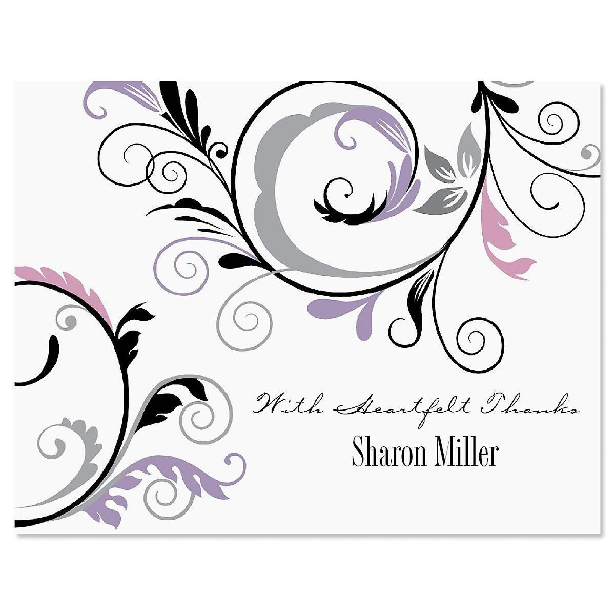 Black and Grey Fantasy Thank You Cards