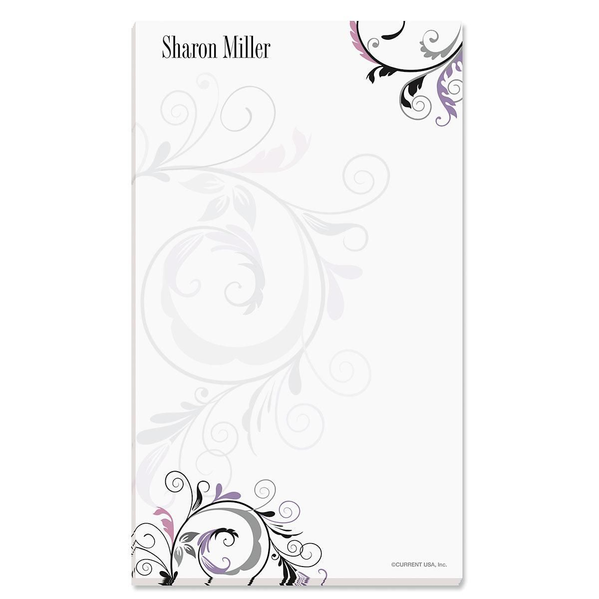 Black and Grey Fantasy Custom Memo Pads