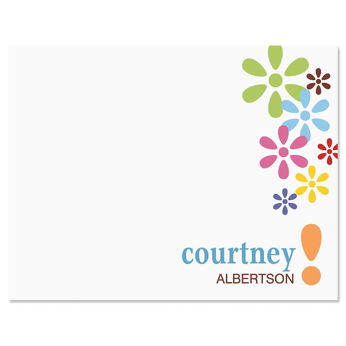 Hopscotch Personalized Correspondence Cards