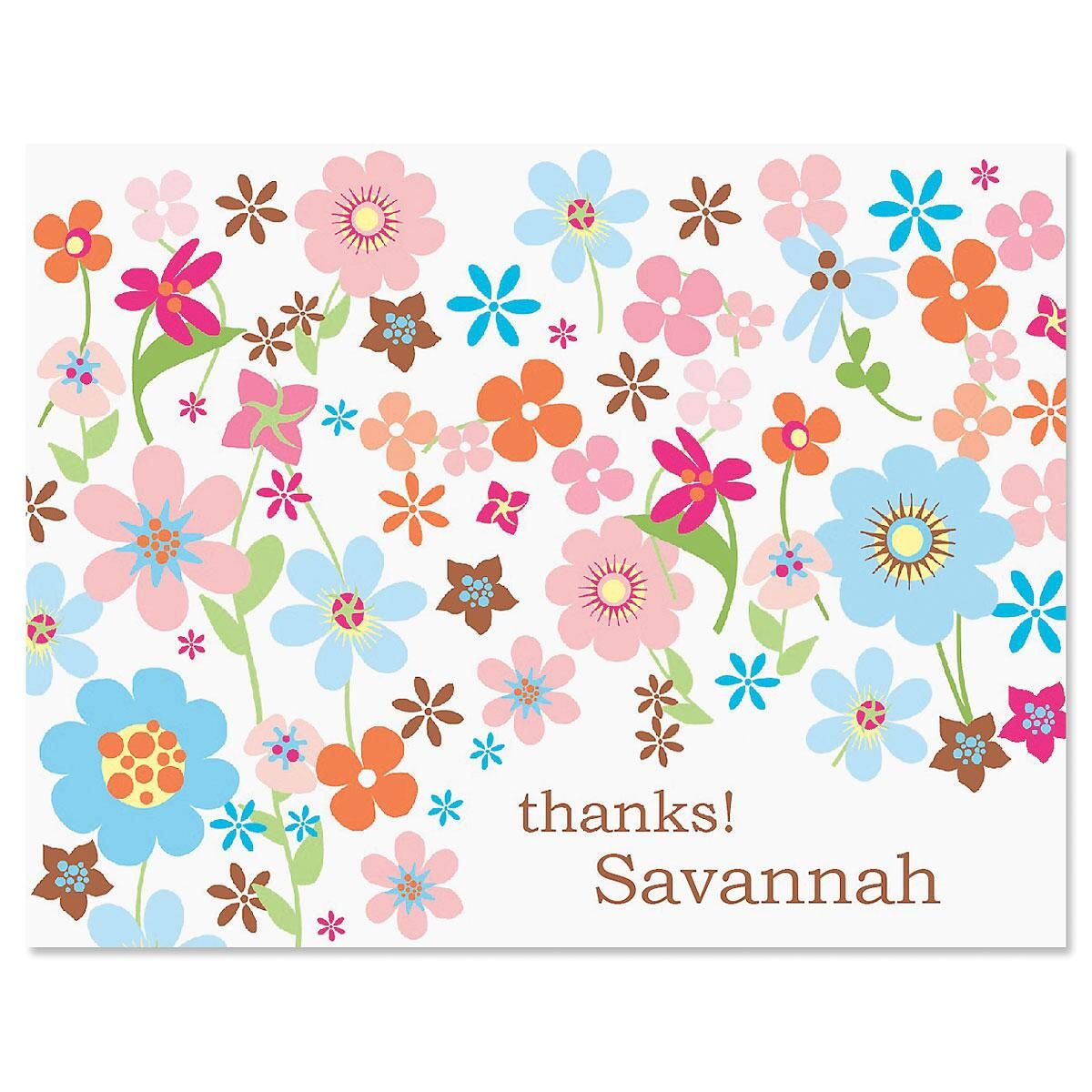 Sprightly Custom Thank You Cards