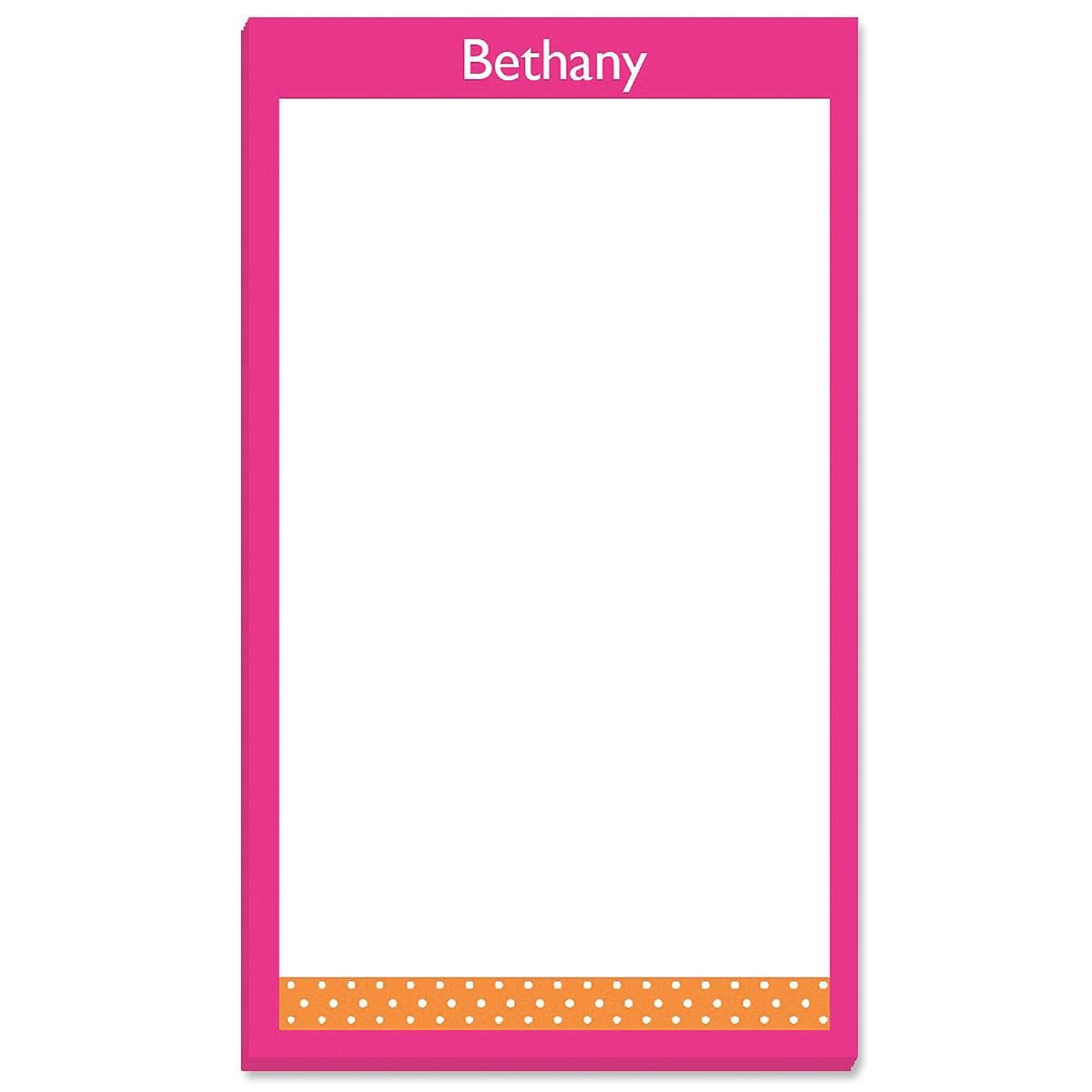 Zesty Dots Custom Memo Pads