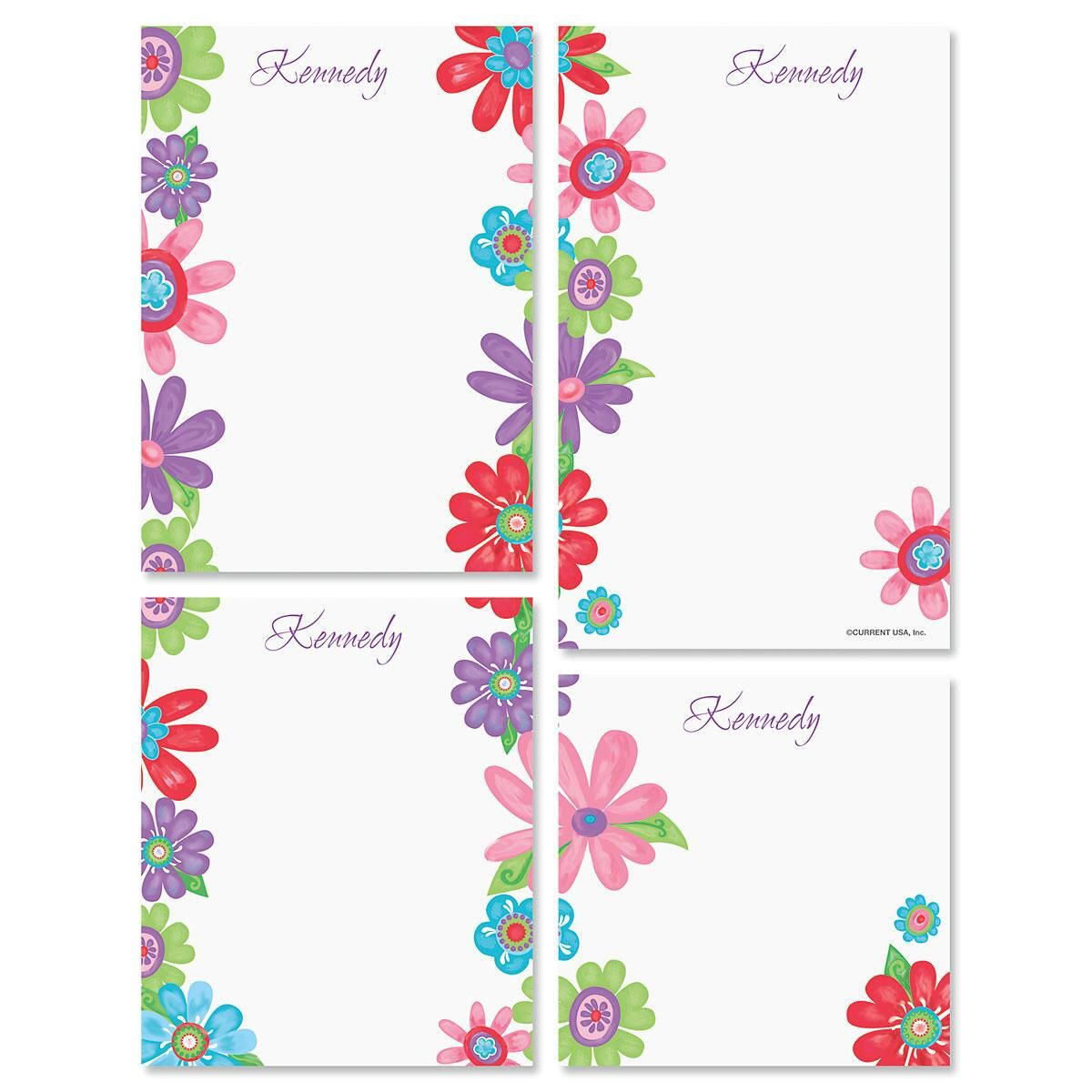 Blossom Memo Pad Sets Colorful Images