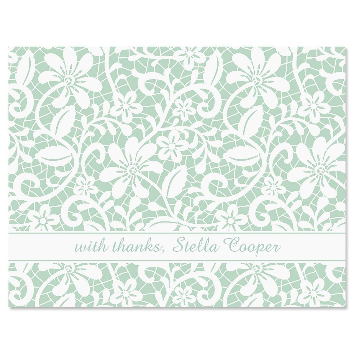 Lace Thank You Cards